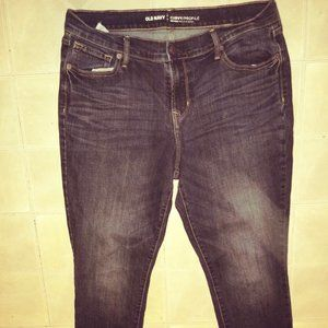 CURVY PROFILE DISTRESSED SKINNY ANKLE JEANS